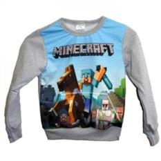 Свитшот с карманом кенгуру Minecraft Стив на лошади