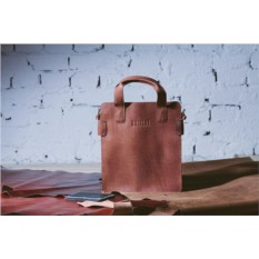 Деловая рыжая сумка Slim-формата Brialdi Catania