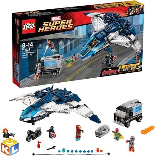 Конструктор Лего Погоня на квинджете мстителей