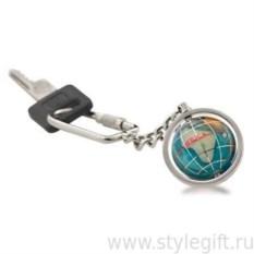 Брелок для ключей серебристого цвета с глобусом