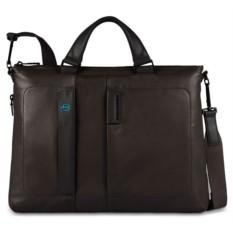 Коричневая мужская сумка для ноутбука Piquadro Pulse