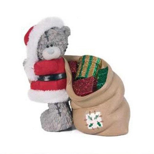 Фигурка «Мишка в костюме Деда Мороза» MTY