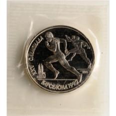 Монета XXV Олимпийские игры 1992 года, Барселона бег
