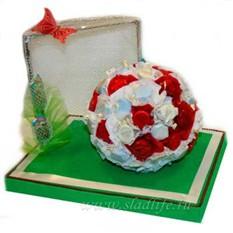 Букет из конфет Футбольный мяч