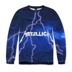 Мужской свитшот с полной запечаткой Metallica