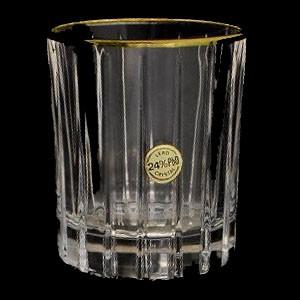 Набор из 6 хрустальных стопок для водки 0,06 л Same Пиза золото