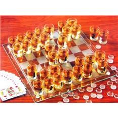 Алкогольная игра Шахматы сос топками, шашки, карты 3 в 1