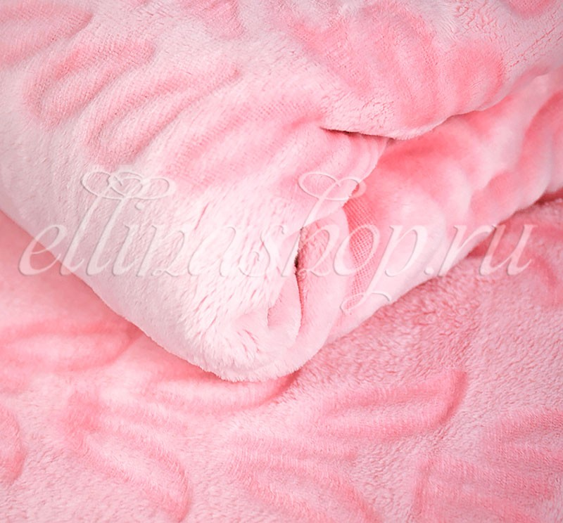 Бамбуковый плед Веточки розового цвета (Karven)