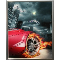 Картина с кристаллами Swarovski Тачка