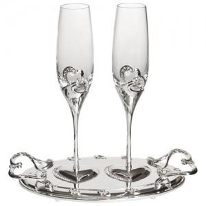 Набор бокалов с подносом «Romantic»