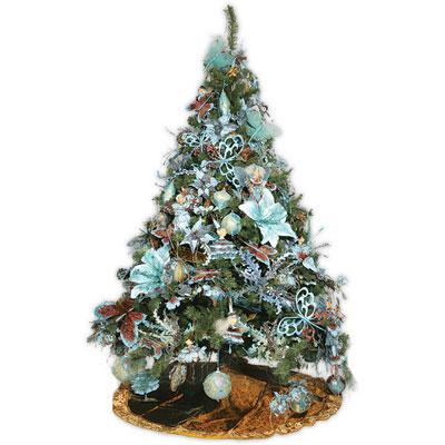 Ёлка эксклюзивная «Christmas brown & light blue»