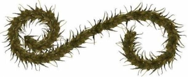 Интерьерное новогоднее украшение из перьев Гирлянда