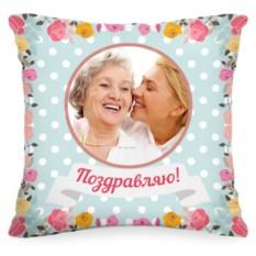 Подушка с Вашим фото «Розы»
