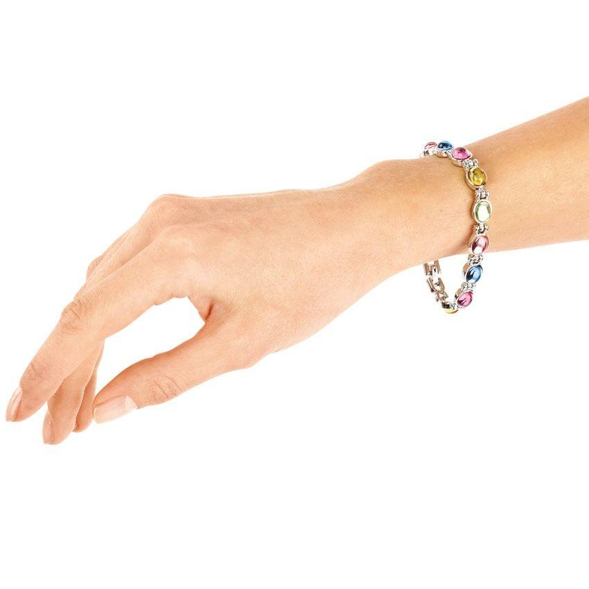 Магнитный браслет с цветными вставками