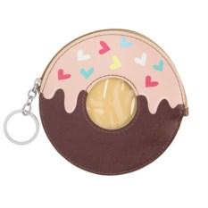 Кошелек-брелок Пончик (розово-шоколадный)