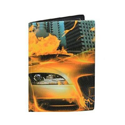 Обложка на паспорт Огонь машина