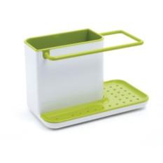 Бело-зеленый органайзер для раковины Caddy