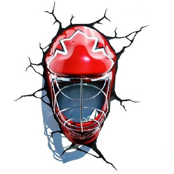 3D-светильник Маска хоккеиста