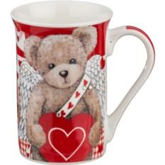 Кружка Медвежонок с сердечком , объем 300 мл.