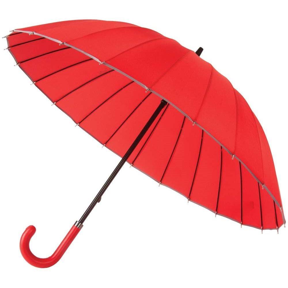 Зонт-трость Ellaс кожаной ручкой
