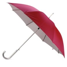 Зонт-трость полуавтомат (цвет: красный и серебро)