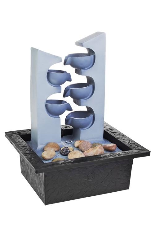 Декоративный электрический фонтан с подсветкой Каскад