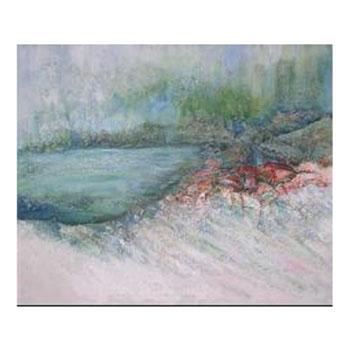 Картина: На берегу зеленого озера