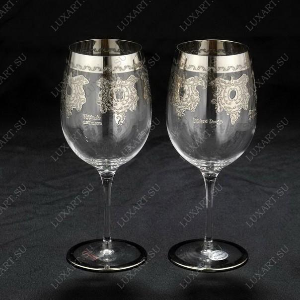 Свадебные бокалы ручной работы с платиной