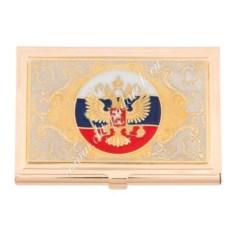 Визитница с эмалью «Герб РФ»