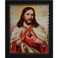 Картина с кристаллами Сваровски Сердце Христа