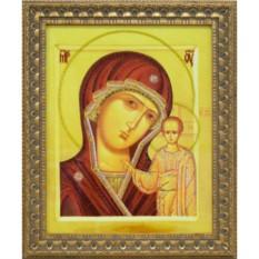 Икона Божией матери с кристаллами Swarovski Казанская