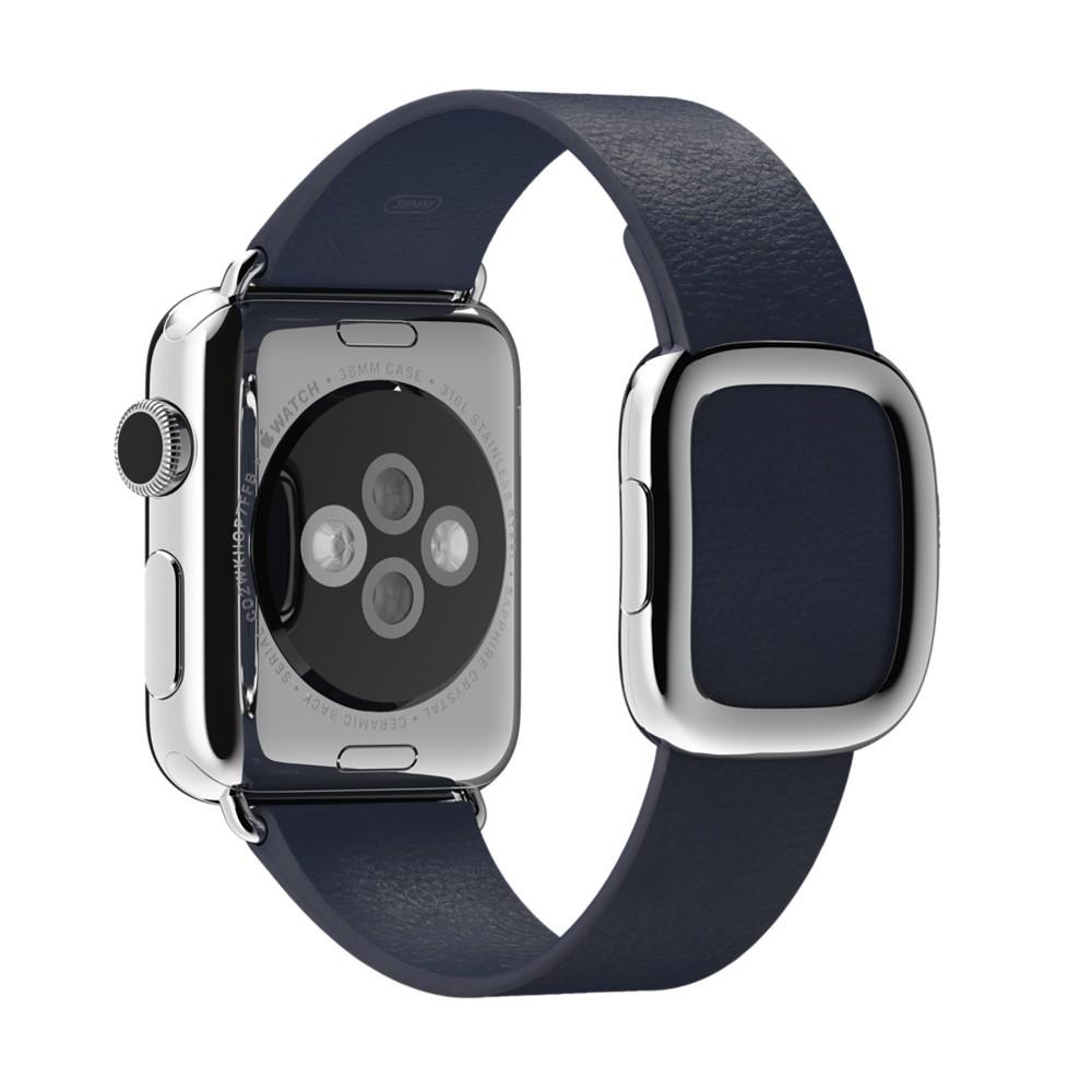 Кожаный ремешок Midnight Blue Modern Buckle для Apple Watche