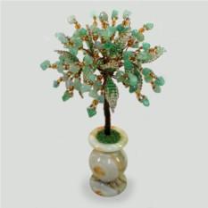 Дерево мира из нефрита в вазочке из оникса