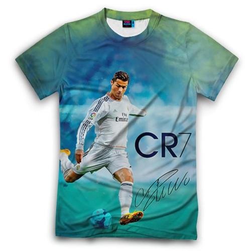 Мужская футболка 3D с полной запечаткой Ronaldo