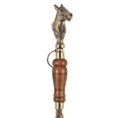 Латунная ложка для обуви Лошадь с деревянной ручкой