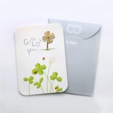 Закладка с открыткой Happy Good Luck