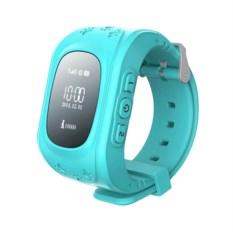 Голубые умные детские часы с GPS Smart Baby Watch Q50