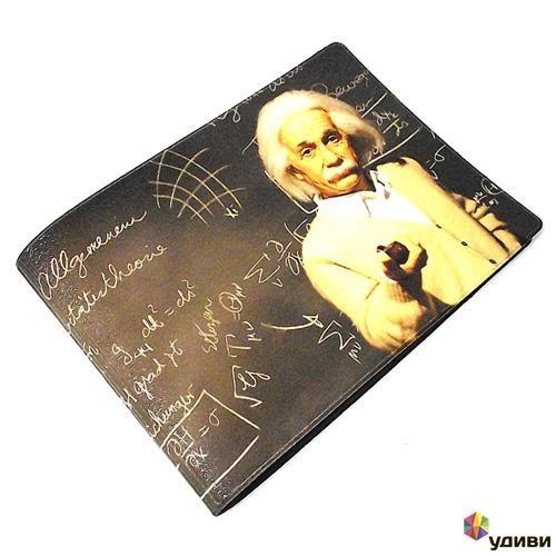 Обложка на зачетку Эйнштейн у доски