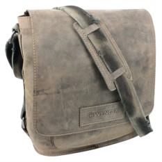 Кожаная наплечная вертикальная сумка А4 WENGER STONEHIDE