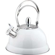 Белый металлический чайник на 2,6л DeLuxe Bekker