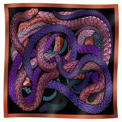 Платок шёлковый «Змеи» Bino Tiani