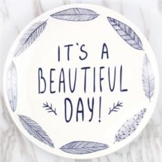 Оригинальная тарелка It's a beautiful day
