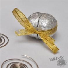 Серебряная шкатулка-орешек