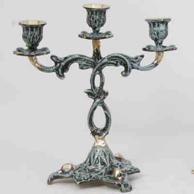 Пара канделябров из бронзы на 3 свечи  Virtus