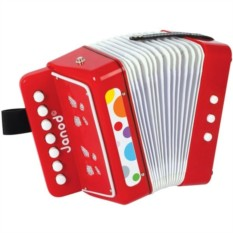 Красный игрушечный аккордеон