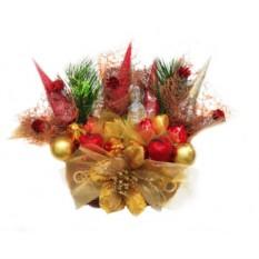 Букет из конфет Новогодние тапочки 3