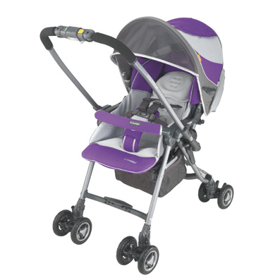 Коляска Miracle turn TJT-450/Indigo (серо-фиолетовая)