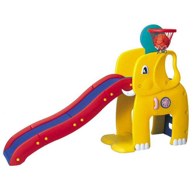 Горка «Слон» с баскетбольным кольцом