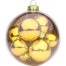 Елочный шар с 9 шарами внутри