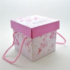 Подарочная коробка с ручками Вишня